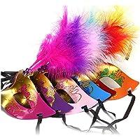 Nuova mascherina della piuma mascherina del partito regalo mascherata Xagoo decorazione di Halloween 6 pc / trasporto libero del lotto