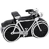 Unbekannt Spardose -  Fahrrad / Bike - E-Bike  - 11 cm - stabile Sparbüchse aus Porzellan / Keramik - Sparschwein - für Kinder & Erwachsene / Fahrradtour - Fahrradrei..