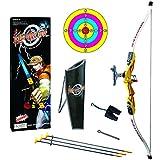 Yvsoo 10Pcs Arcos y Flechas Dianas de Juguete Sets de Tiro con Arco Juego de Disparos para Niños (Amarillo)