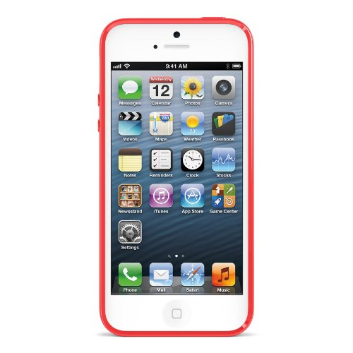 Belkin blickdicht Glanz-Hartschale für iPhone 5 rubinrot