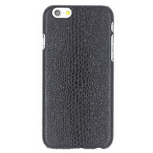 YAN Pour IPhone 6 / 6S, Snakeskin Texture Paste Skin PC Case de protection ( Color : Black ) Black