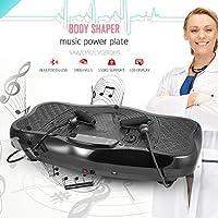 Ultrey Fitness Vibrationsplatt mit USB-Lautsprecher Profi Ganzkörper Trainingsgerät, mit Trainingsbänder und Fernbedienung - preisvergleich