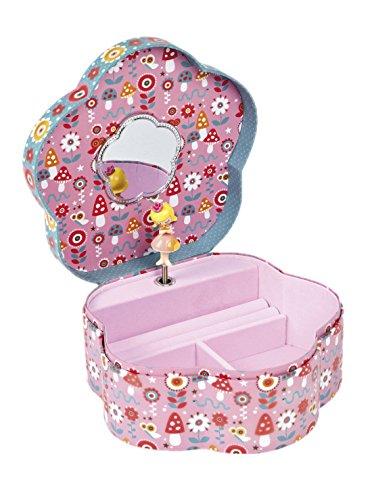 Janod Spielzeug - Spieluhr Schmuckkästchen Minuschka Blüten, Mehrfarbig