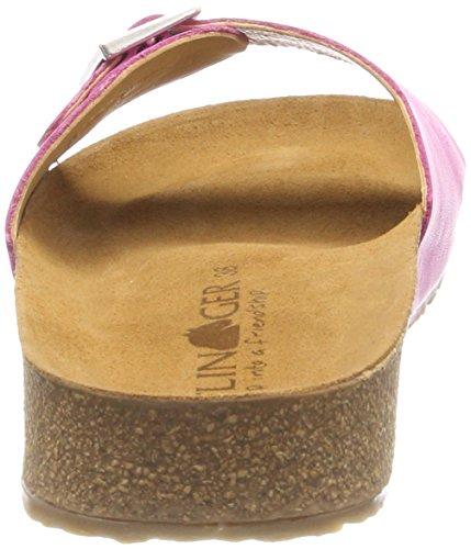 Haflinger Gina Damen Pantoletten Pink (Magenta)
