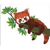 Cuadro sobre lienzo 50 x 40 cm: Sweet red panda de Colourbox - cuadro terminado, cuadro sobre bastidor, lámina terminada sobre lienzo auténtico, impresión en lienzo