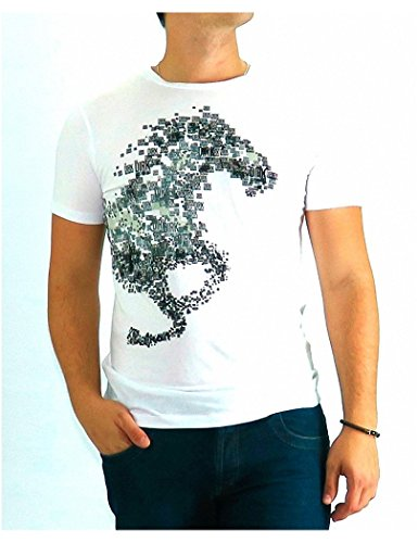 bikkembergs-tshirt-dirk-bikkembergs-white-horse-logo-xl-blanco