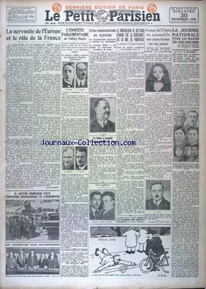 PETIT PARISIEN DERNIERE EDITION DE PARIS 5 HEURES (LE) [No 19638] du 30/11/1930