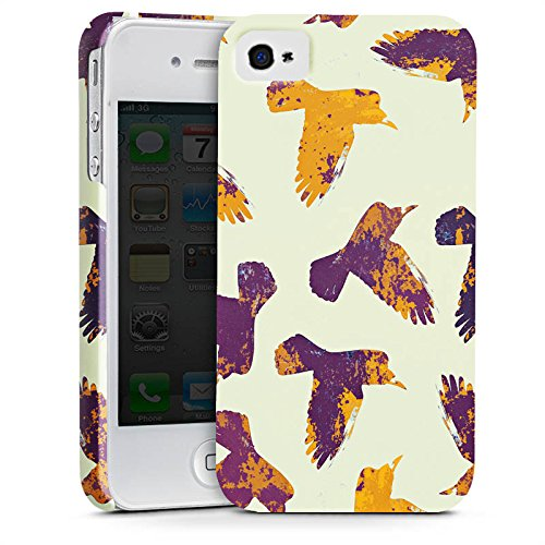 Apple iPhone X Silikon Hülle Case Schutzhülle Vögel Raben Wasserfarbe Premium Case glänzend