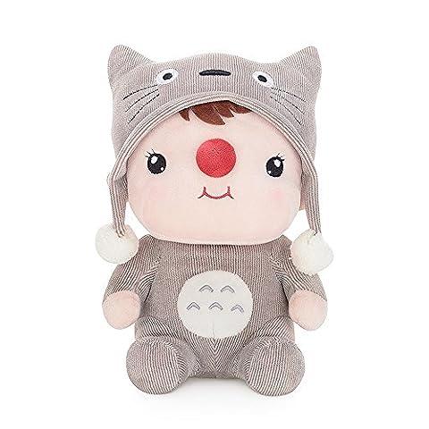 BELK Schmusen Plüschtier gefüllte Puppe Bettseite Schlaf Spielzeug Pal nette Plüsch Begleiter für kleines Baby George die graue Katze