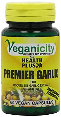 Veganicity Premier Garlic 500mg Digestive Health Supplement - 60 Capsules by Health + Plus Ltd