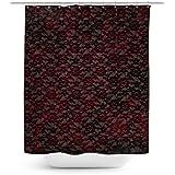 Sangre de encaje rojo cortina de ducha–Único en 4tamaños para cualquier cuarto de baño, negro, 66x72 Large