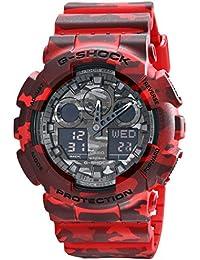 Casio G-shock GA100CM-4A de la serie de relojes de diseño de camuflaje - rojo/de un tamaño