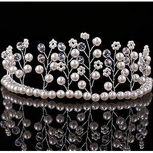 CYY Braut Kopfschmuck Mode Perlen Kristall Krone Tanz Haar Gürtel Hochzeit Kleid Kopfschmuck Haar Krone