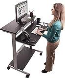 Mobiler ergonomischer Stand-up-Computerschreibtisch (Schwarz, Schreibtisch Länge: 100cm)