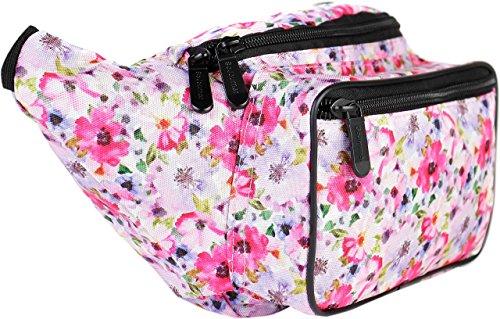 SoJourner Bags Fanny Pack - Floral Pink Floral Pink (Cross 80er Body)