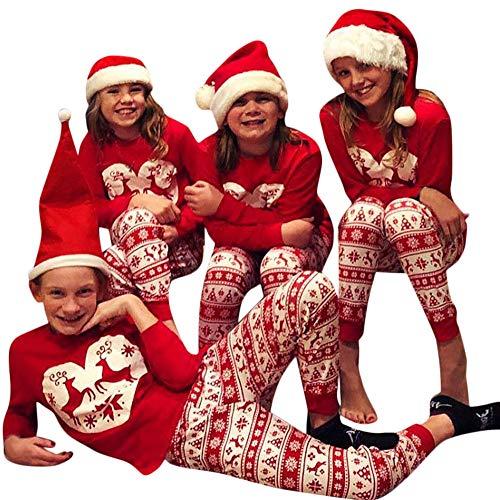 Mädchen Kostüm Cute Santa - Riou Weihnachten Set Baby Kleidung Pullover Pyjama Outfits Set Familie Frohe Weihnachts kostüme Junge Mädchen Xmas Santa Nachtwäsche Schlafanzug Familien Pyjamas Set (100, Baby)
