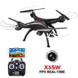 DoDoeleph Syma AUKWING RC Drone HD mit Kamera, X5SW Fernbedienung Quadcopter Drone Hubschrauber (Weiß)