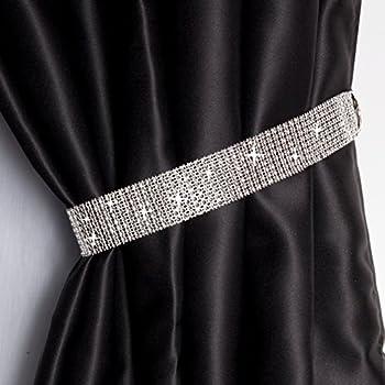 2 X White Clear Beaded Curtain Tie Backs Tiebacks Amazon