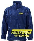 Feuerwehr Fleece-Jacke mit Aufdruck in Neongelb oder weiß (XXL, Neongelb)