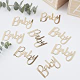 Ginger Ray Gold Foiled Baby Shower Party Table Confetti Decoration- 14g Pack - Oh Baby!