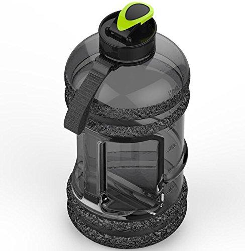 TTYY Outdoor-Sport-Wasser-Flasche 2.2L große Kapazitäts-auslaufsichere kampierende Spielraum-Turnhallen-Schalen