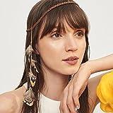 jovono indischen Feder Haarband Quaste Hanf Seil Bohemian Haarband für Frauen Mädchen Festival Kopfschmuck