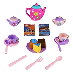 Tea set toy teapot pretend role play food kitchen game for for Kitchen set for 3 year old