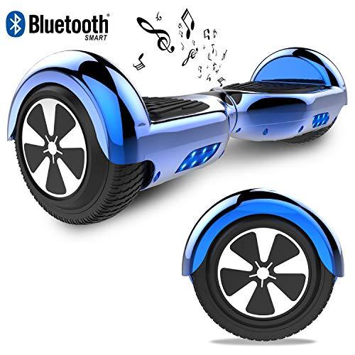 RCB Hoverboard Elektroroller 6,5 Zoll Smart Self-Balance Roller mit bunten Lichter Bluetooth eingebaute Geschenk für Kind