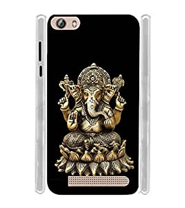 Lord Ganapati Soft Silicon Rubberized Back Case Cover for Gionee Pioneer P5L