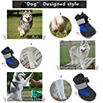 PetPi 4pcs x Paw Protector Blue Dog Shoes Waterproof + Anti-slip Rubber Sole with Reflective Velcro for Yorkshire… 13