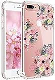 iPhone 7 Hülle, iPhone 8 Hülle, JIAXIUFEN TPU Silikon Schutz Handy Hülle Handytasche HandyHülle Etui Schale Schutzhülle Case Cover für Apple iPhone 7/iPhone 8 - Pink Blossom