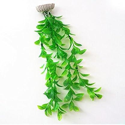 UEETEK Fish Tank Green Plastic Artificial Plants Aquarium Water Plants Decorations - PACK OF 3 3