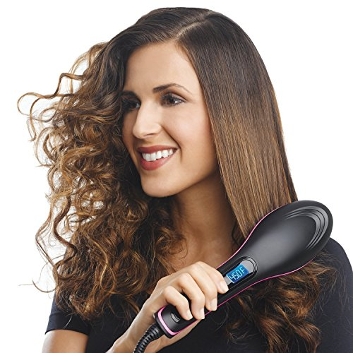 Flipco Simply Straight Ceramic Straightening Brush - (Hair Straightener, Curler and Styler - MutliColor)