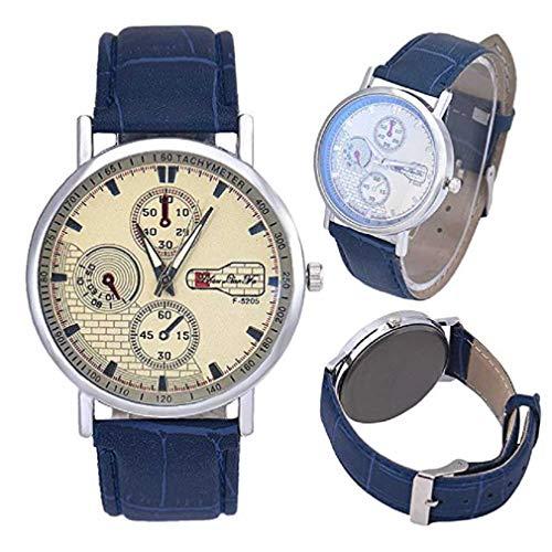 fe4dd810ffa715 Fittingran Vigilanza del Quarzo degli Uomini sull'orologio di Cuoio  Economico degli Uomini dell'