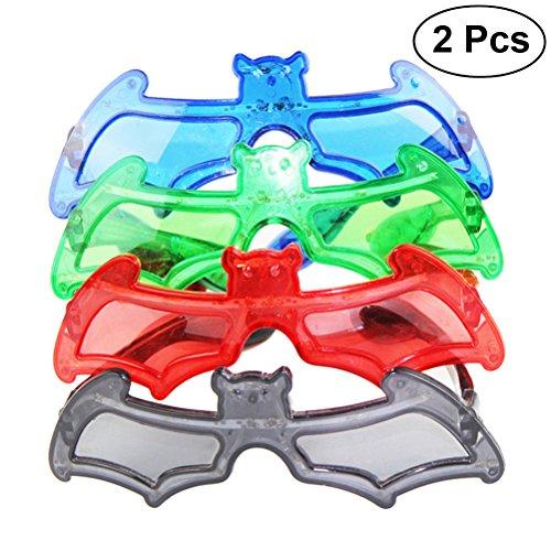 ED Kostüm Brillen Party Blinkende Brille in Fledermaus Form (Zufällige Farbe) (Light Up Kürbis Dekorationen)