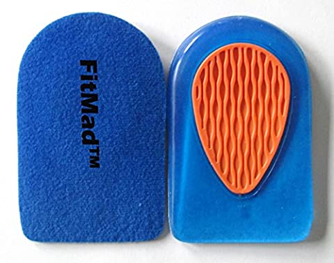 FitMad® Sport Heel Pad Supports - Cushions for Plantar Fasciitis Heel Pain- Walk More Comfortably, (Plantari Fascite Plantare)