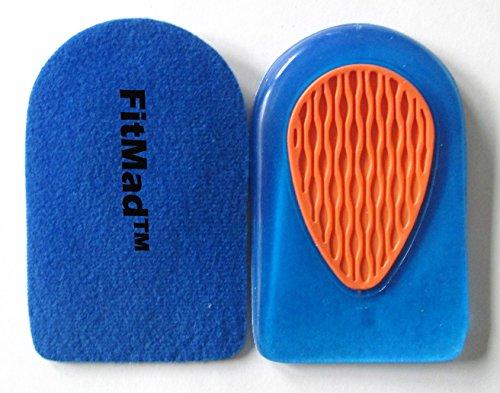 Beschädigte Füße (FitMad® Sport Heel Pad Halter - Kissen für Plantar Fasciitis Ferse Schmerz- Weg bequemer, den ganzen Tag! Sofortige Schmerzlinderung für müde Füße und beschädigte Heels - SIZE40-46)