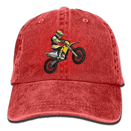 errterfte Silhouette Motocross Denim Baseball Caps Hat Cotton Sport Strap Cap Men Women Personalized Hat Comfortable Adjustable