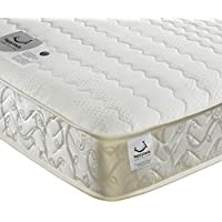 Memory Foam Open Coil Spring, Happy Beds Membound Medium Soft Tension Mattress with Reflex Foam - 3ft Single (90 x 190 cm)