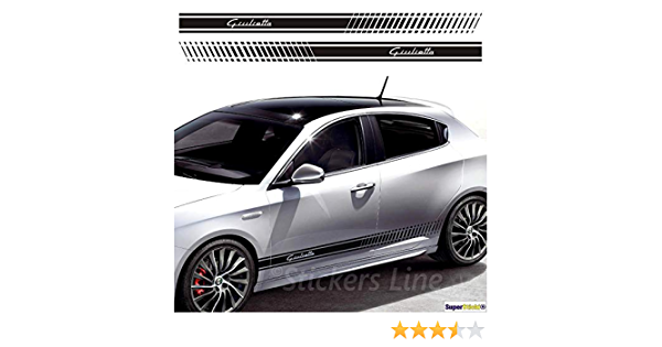 Supersticki Alfa Romeo Giulietta Seitenstreifen Auto Aufkleber Aufkleber Sticker Decal Aus Hochleistungsfolie Aufkleber Autoaufkleber Tuningaufkleber Racingaufkleber Rennaufkleber Hochleis Auto