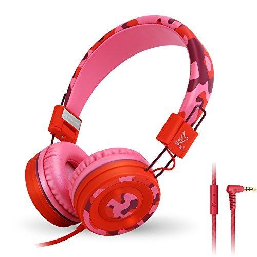 C89 sull orecchio pieghevole cuffie archetto regolabile per bambini e adulti  iPhone iPad iPod computer tablet 882b8babeca3