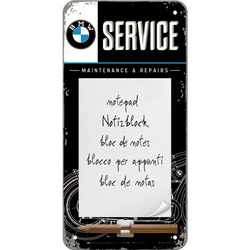 nostalgic-art-84039-bmw-service-notizblockschild-10x20-cm