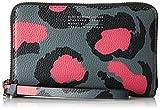 Marc Jacobs Damen Printed Divine Leopard Wingman Geldbörsen, Pink (Raspberries), One Size