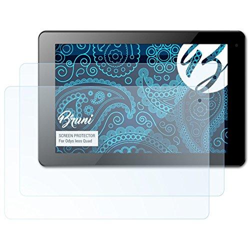 Bruni Schutzfolie kompatibel mit Odys Ieos Quad Folie, glasklare Bildschirmschutzfolie (2X)