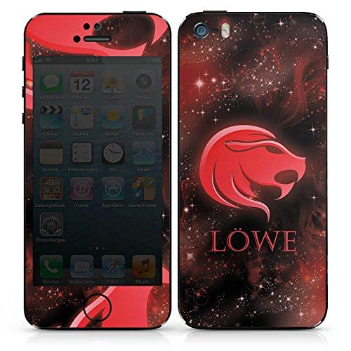 Apple iPhone 5s Case Skin Sticker aus Vinyl-Folie Aufkleber Löwe Sternzeichen Sterne DesignSkins® glänzend