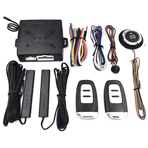Pandiki Auto Ölpumpe Erkennung 12V + 3V Smart Security Keyless Entry Push-Alarm-System Start Remote One-Button starten