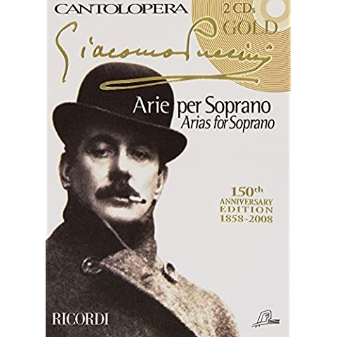 RICORDI PUCCINI G. - CANTOLOPERA: PUCCINI GOLD + 2 CD - CHANT ET PIANO Classical sheets Voice solo,