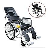 Fauteuil Roulant Pliable Fauteuil de Transfert Inclinable Chaise Roulante pour Personnes âgées, Handicapé