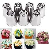 Squeeze Cream Decoración De Utensilios De Cocina Siete Juegos Variedad De Integrated Magic Flower Modelo De Acero Inoxidable