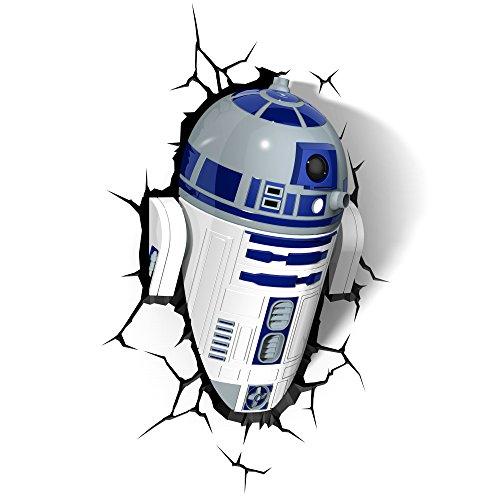 51bm0dVf7WL - STAR WARS FX14233 Lampara 3D de Pared R2 D2